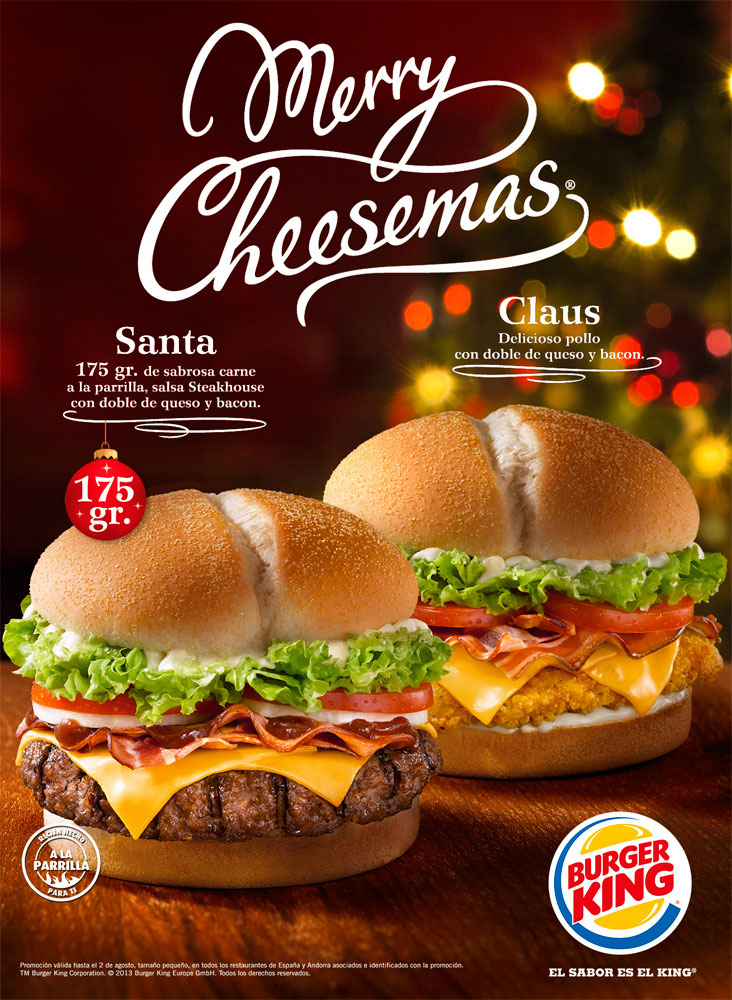 burger king merry cheesemas el equipo. Black Bedroom Furniture Sets. Home Design Ideas